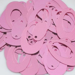 Sequins, pink, 1.3cm x 2.2cm, 100 pieces, 4g, Flat oval, Sequins are shiny, [CZP081]